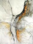 "Pain_2011.12.11_ 01 | gesso, charcoal & pastel on paper | 53"" X 47"""